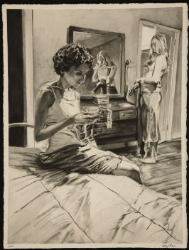 Untitled (Two Women in a Bedroom, Dresser Mirror)