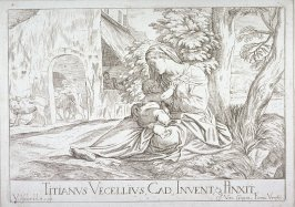 Madonna and Child Seated Under A Tree, from Opera selectiora, quæ Titianus Vecellius Cadubriensis,' &c.