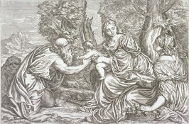 [Madonna and Child with St. Jerome and Dorothy, no. 14 from Opera selectiora, quæ Titianus Vecellius Cadubriensis,' &c.