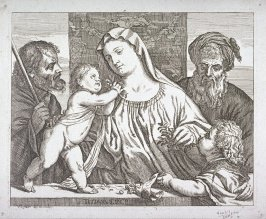 The Holy Family, from Opera selectiora, quæ Titianus Vecellius Cadubriensis,' &c.