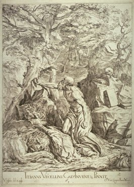 St. Jerome in the Desert, from Opera selectiora, quæ Titianus Vecellius Cadubriensis,' &c.