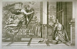 The Annunciation, from Opera selectiora, quæ Titianus Vecellius Cadubriensis,' &c.