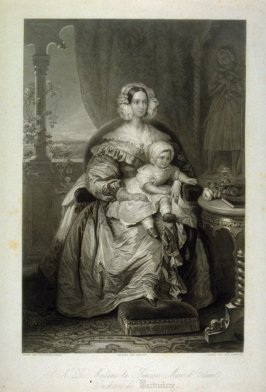 Princess Marie of Orleans and Child