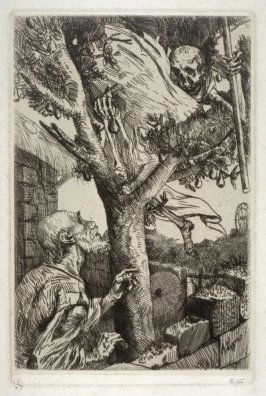 Le Bonhomme Misere (Death calling the peasant from the tree)