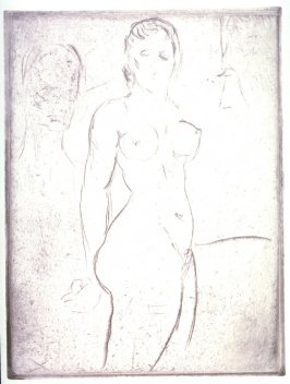 Nude Model with Head od a Man