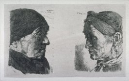 Two Heads of Bavarian Peasant Women
