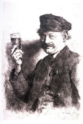 A man raising a glass