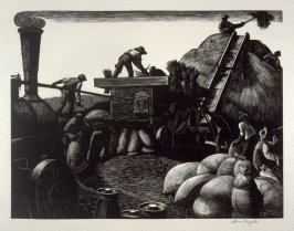 March - Threshing, from The Farmer's Year