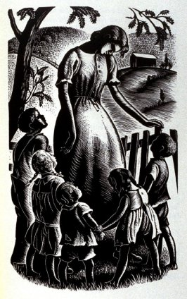 Illustration on page 351 in the book The Time Of Man by Elizabeth Madox Roberts (New York: The Viking Press, 1945)