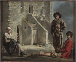 Peasants Before Their House