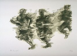 Movimiento (Movement), fifth plate in the portfolio, 21 Estampadores de Colombia, Mexico y Venezuela (21 Printmakers of Colombia, Mexico and Venezuela)