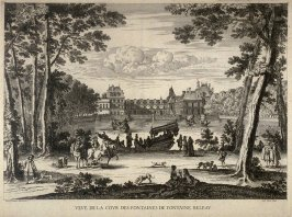 View of the Cour des Fontaines at Fontainebleau