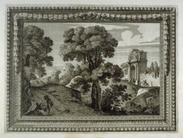 One of Eight landscapes with fine buildings