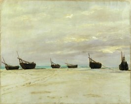 Boats on the Beach at Berck