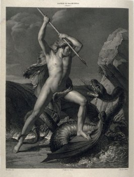 Cadmus Combattant Le Dragon...thirty second plate in the book... Galerie lithographiée de son Altesse royale Monseigneur le Duc d' Orléans (Paris: Bureau de la Galerie … [1830?]), vol. 1