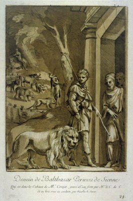 Shepherd with Lion on a leash, from the Recueil Crozat