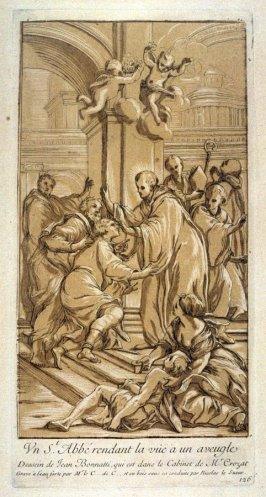 St. Abbe restoring the sight to a blind man, from the Recueil Crozat