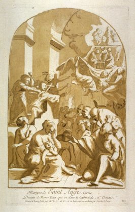 The Martyrdom of St. Ange, from the Recueil Crozat