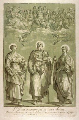 St. Paul with two saints, from the Recueil Crozat