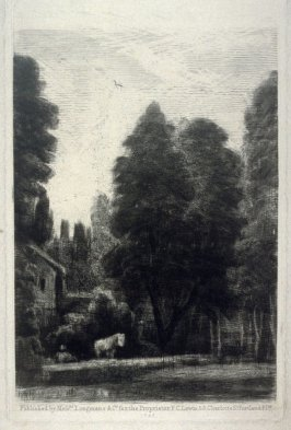 Landscape with cottage, horse in the foreground
