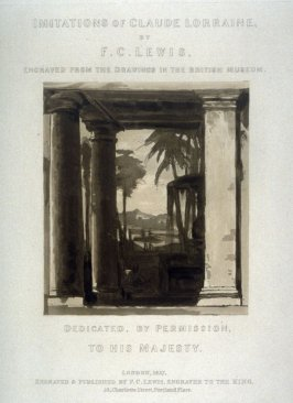 Title page from: Imitations of Claude Lorraine (from the drawings in the British Museum)