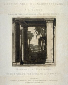 Title page to the second part of the series 'Liber Studiorum of Claude lorraine by F.C. Lewis'