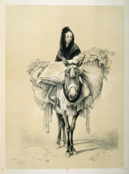 Peasant Girl on a Mule, Andalusia, ninth plate in the book, Sketches of Spain and Spanish Character (London: F. G. Moon … John F. Lewis, [1836])