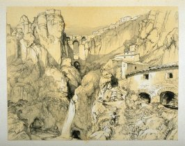Ronda:Andalusia, tenth plate in the book, Sketches of Spain and Spanish Character (London: F. G. Moon … John F. Lewis, [1836])