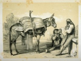 Muleteers of Ronda, eleventh plate in the book, Sketches of Spain and Spanish Character (London: F. G. Moon … John F. Lewis, [1836])