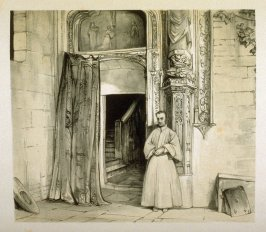A Convent Door, Toledo (San Juan de los Reyes), twelfth plate in the book, Sketches of Spain and Spanish Character (London: F. G. Moon … John F. Lewis, [1836])