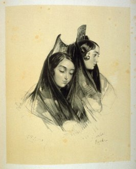 Gitanas, Gypsy Girls of Ronda, fifteenth plate in the book, Sketches of Spain and Spanish Character (London: F. G. Moon … John F. Lewis, [1836])