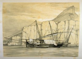 Smuggling Feluchos; Gibraltar, sixteenth plate in the book, Sketches of Spain and Spanish Character (London: F. G. Moon … John F. Lewis, [1836])
