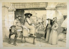 Begging Friars, Granada, twentieth plate in the book, Sketches of Spain and Spanish Character (London: F. G. Moon … John F. Lewis, [1836])
