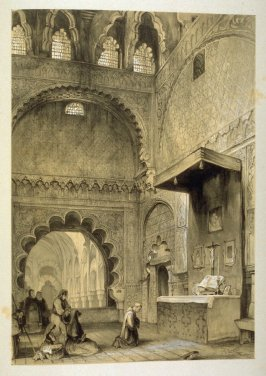 Chapel of the Villa Viciosa, Cordova, twenty-first plate in the book, Sketches of Spain and Spanish Character (London: F. G. Moon … John F. Lewis, [1836])