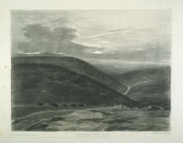 Dartmoor near Holne, first plate in the book, Scenery of the Rivers of England and Wales (London: Longman… [and] for the proprietor F. C. Lewis, [1845])