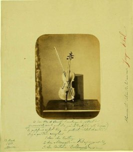 Portrait d'un Guarnerius Violin, March 14, 1860, Moscow