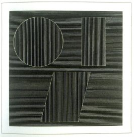 Plate 36 in the book Six geometric figures and all their combinations using white lines in two directions (New York: Parasol Press Ltd. :1980), vol. 2 (of 2) ( white on black)