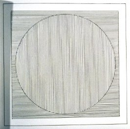 Plate 2 in the book Six geometric figures and all their combinations using black lines in two directions (New York: Parasol Press Ltd. :1980), vol. 1 (of 2) (black)