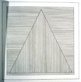 Plate 3 in the book Six geometric figures and all their combinations using black lines in two directions (New York: Parasol Press Ltd. :1980), vol. 1 (of 2) (black)