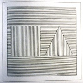 Plate 8 in the book Six geometric figures and all their combinations using black lines in two directions (New York: Parasol Press Ltd. :1980), vol. 1 (of 2) (black)