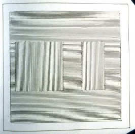 Plate 9 in the book Six geometric figures and all their combinations using black lines in two directions (New York: Parasol Press Ltd. :1980), vol. 1 (of 2) (black)