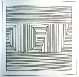 Plate 15 in the book Six geometric figures and all their combinations using black lines in two directions (New York: Parasol Press Ltd. :1980), vol. 1 (of 2) (black)