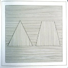 Plate 17 in the book Six geometric figures and all their combinations using black lines in two directions (New York: Parasol Press Ltd. :1980), vol. 1 (of 2) (black)