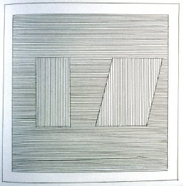Plate 20 in the book Six geometric figures and all their combinations using black lines in two directions (New York: Parasol Press Ltd. :1980), vol. 1 (of 2) (black)