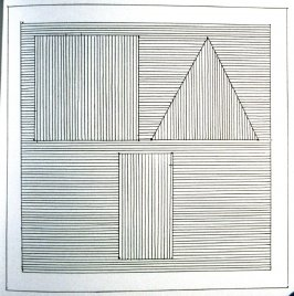 Plate 26 in the book Six geometric figures and all their combinations using black lines in two directions (New York: Parasol Press Ltd. :1980), vol. 1 (of 2) (black)