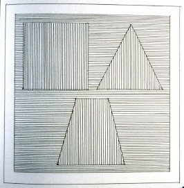 Plate 27 in the book Six geometric figures and all their combinations using black lines in two directions (New York: Parasol Press Ltd. :1980), vol. 1 (of 2) (black)