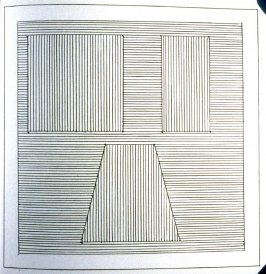 Plate 29 in the book Six geometric figures and all their combinations using black lines in two directions (New York: Parasol Press Ltd. :1980), vol. 1 (of 2) (black)