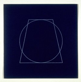 "Untitled, pl. 4, from the portfolio, ""All double combinations (superimposed) of six geometric figures (circle square, triangle, rectangle, trapezoid and parallelogram)"""