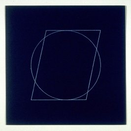 """Untitled, pl. 5, from the portfolio, """"All double combinations (superimposed) of six geometric figures (circle square, triangle, rectangle, trapezoid and parallelogram)"""""""