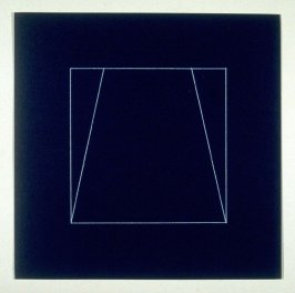 "Untitled, pl. 9, from the portfolio, ""All double combinations (superimposed) of six geometric figures (circle square, triangle, rectangle, trapezoid and parallelogram)"""